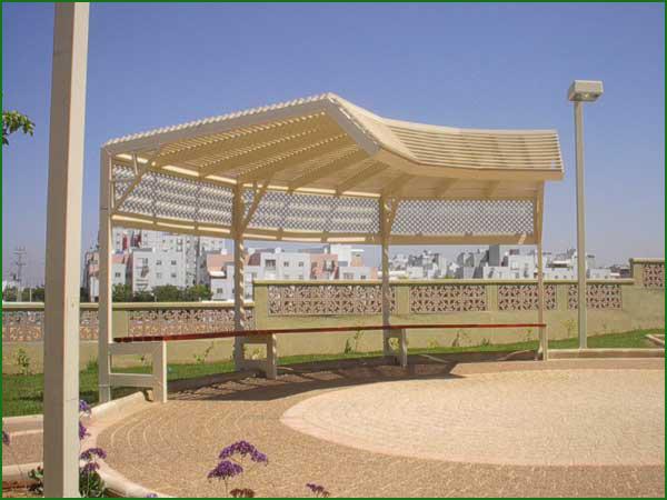 פרגולות אלומיניום - פרגולות אלומיניום לפארקים - פרגולות ציבוריות