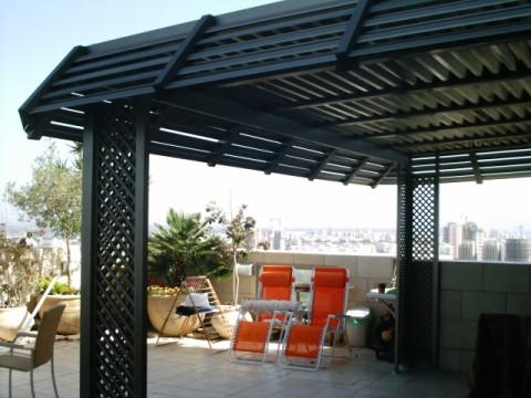 פרגולות אלומיניום - פרגולות למרפסת שמש - פרגולה -דירות גג