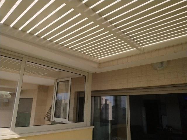 פרגולות אלומיניום - פרגולות למרפסת שמש - פרגולת הצללה