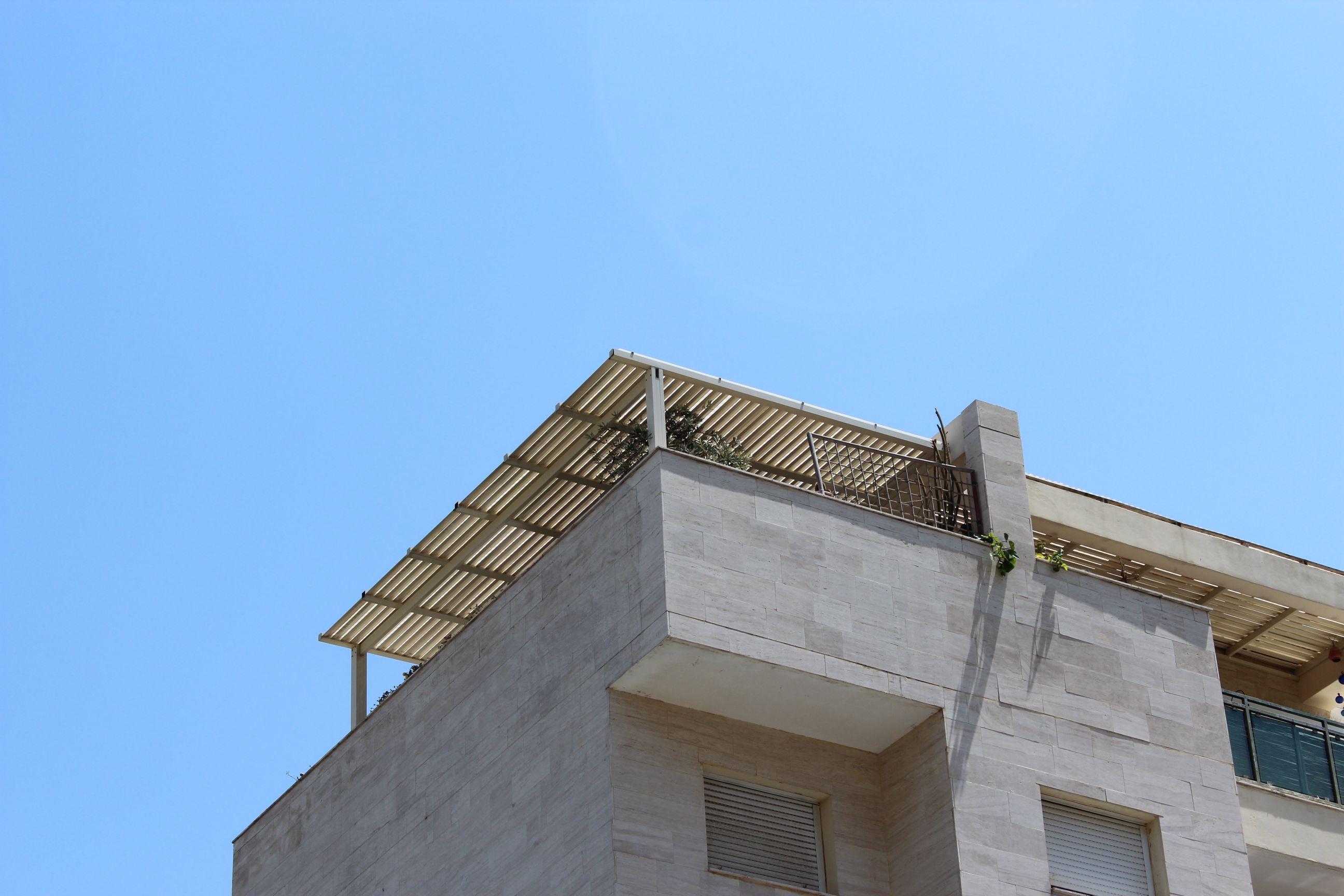 פרגולות אלומיניום - פרגולות לדירות גג - פרגולה לדירת גג