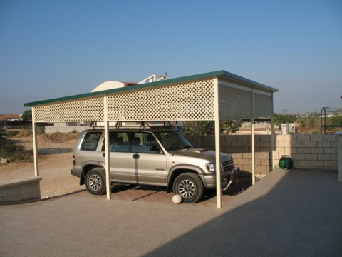 סככות לרכב - סככה מפנלים מבודדים - סככות לרכב- פאנלים מבודדים