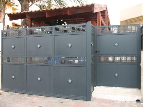 שערים - שערים דגם רשת אייל - שערים-שערי כניסה וחניה