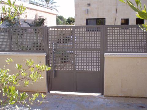 שערים - שערים דגם רשת אייל - שער כניסה דגם אייל