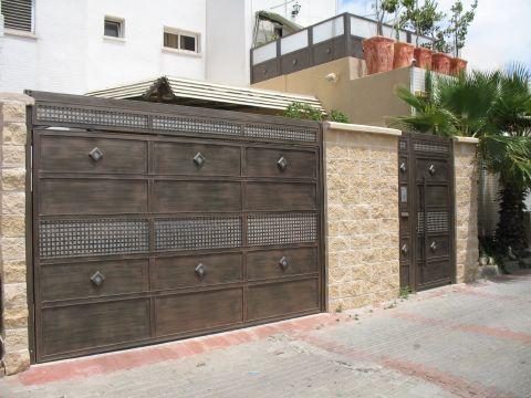 שערים - שערים דגם רשת אייל - שער כניסה וחניה רשת