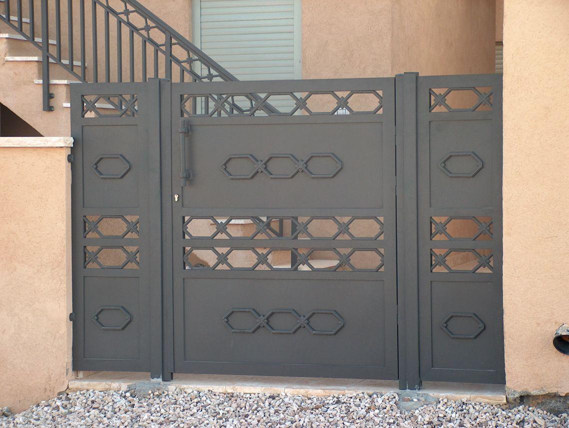 שערים - שערים דגם יציקות - שער דגם אטום טרפז