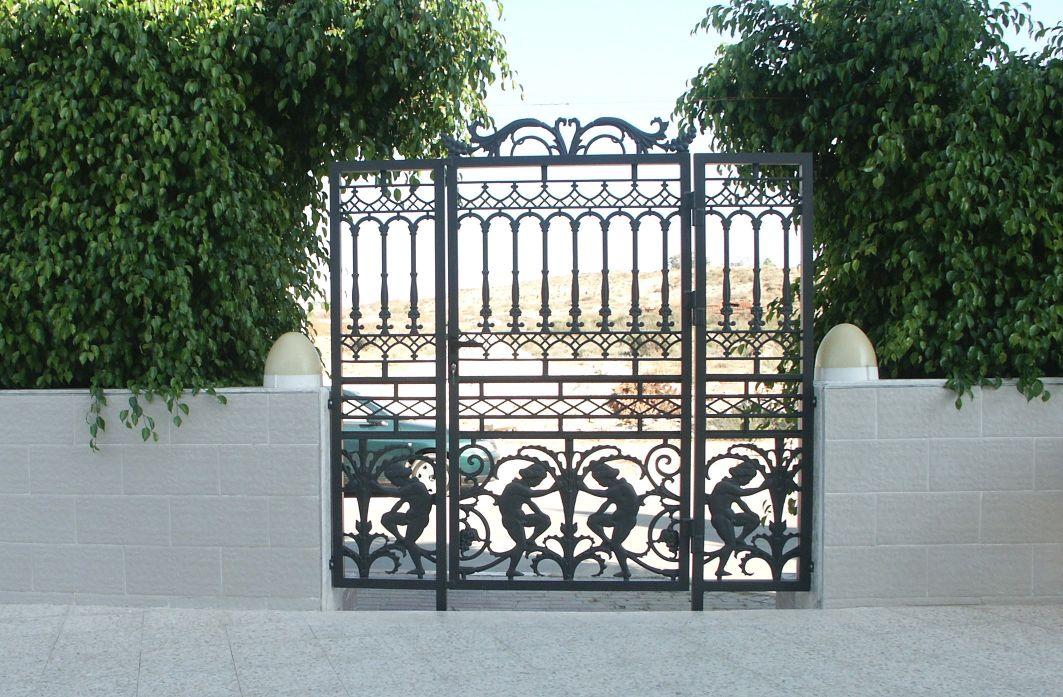שערים - שערים דגם יציקות - שער דגם קשתות ומלאכים