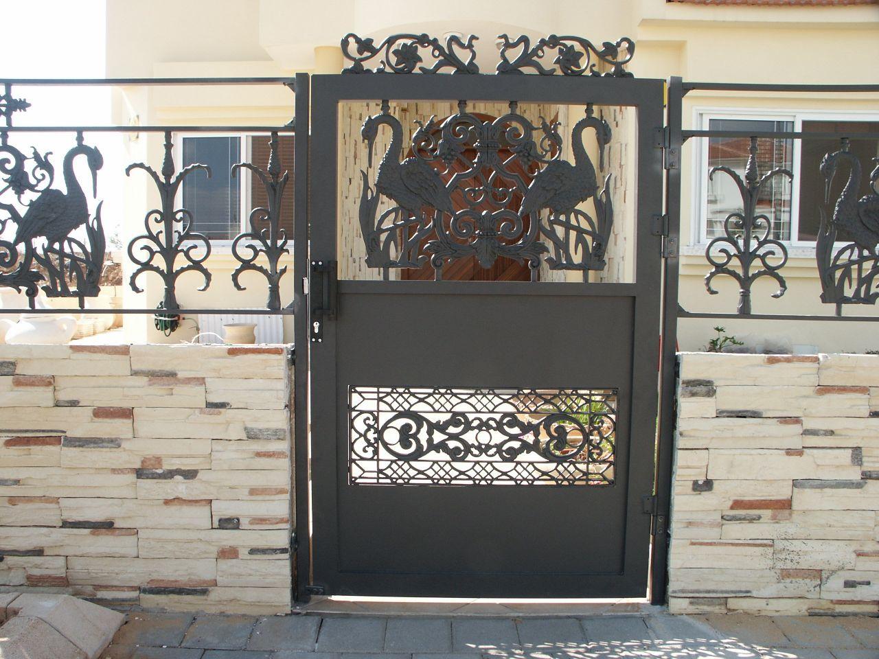 שערים - שערים דגם יציקות - שער דגם אטום פלמינגו