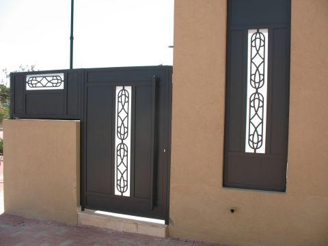 שערים - שערים דגם יציקות - שער כניסה וחניה