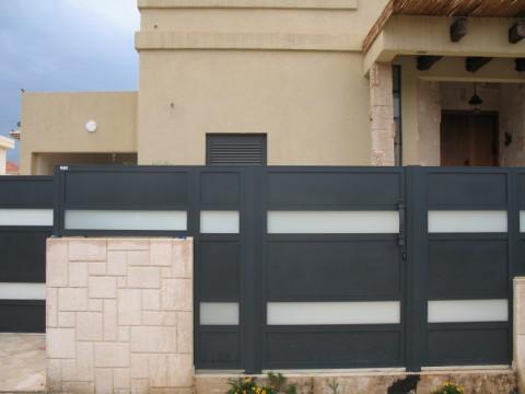 שערים - שערים  עם שילובי זכוכית - שערים -שערי כניסה