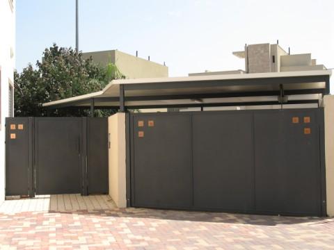 שערים - שערים -  דגם אטום - שערים-כניסה וחניה