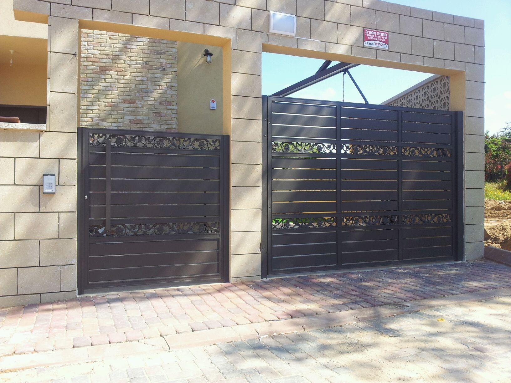 שערים - שערים סטריפים - שער חניה ושער כניסה