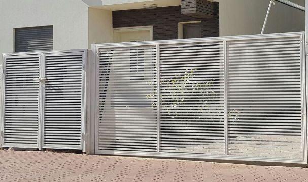 שערים - שערים פרופילים דגם הייטק - שער אלומיניום דגם הייטק
