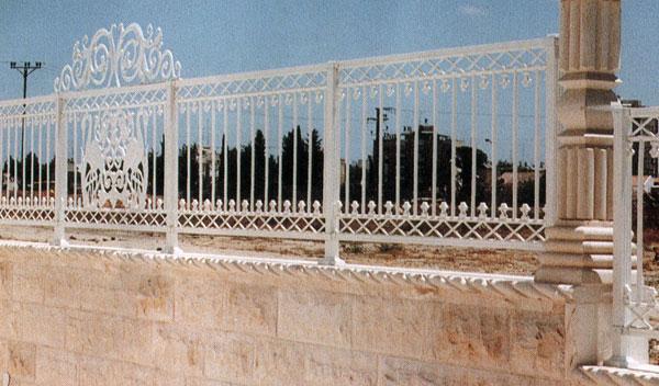 גדרות - גדרות - יציקות אלומיניום - גדר מיציקות אלומיניום