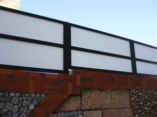 גדרות - גדרות - שילובי זכוכית - גדר בשילוב זכוכית